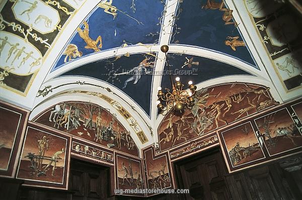 Lithuania, Vilnius, University (19th-20th century), Frescoes by Petras Repsys, stations of life (1976-1985)